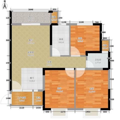 长城南雅名居3室0厅1卫1厨94.00㎡户型图