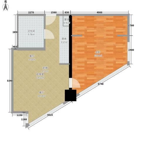 BOBO国际1室0厅1卫0厨68.00㎡户型图