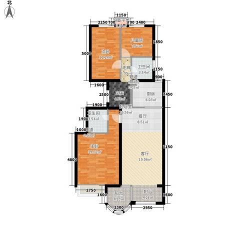 鹭港小区3室0厅2卫1厨133.00㎡户型图