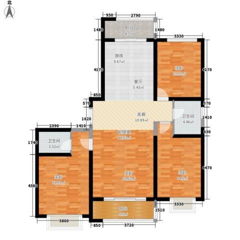 枫景湾家园3室0厅2卫0厨165.00㎡户型图