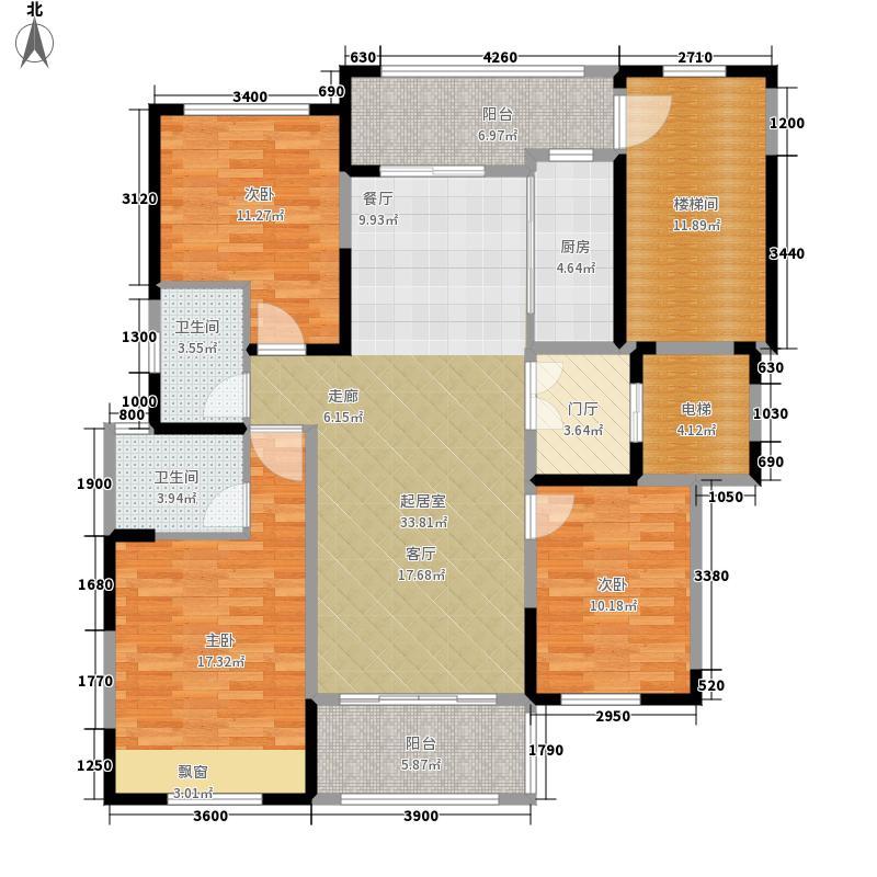 半岛华府115.00㎡C户型3室2厅
