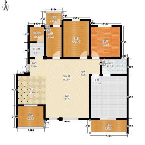 洪城比华利3室0厅2卫1厨161.00㎡户型图