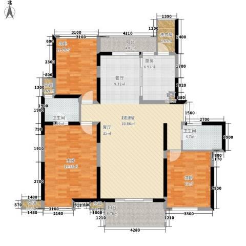 兰亭坊3室0厅2卫1厨170.00㎡户型图