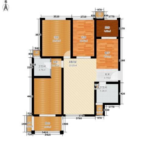 天香心苑3室0厅2卫1厨113.00㎡户型图