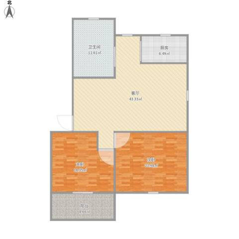 南华城2室1厅1卫1厨149.00㎡户型图