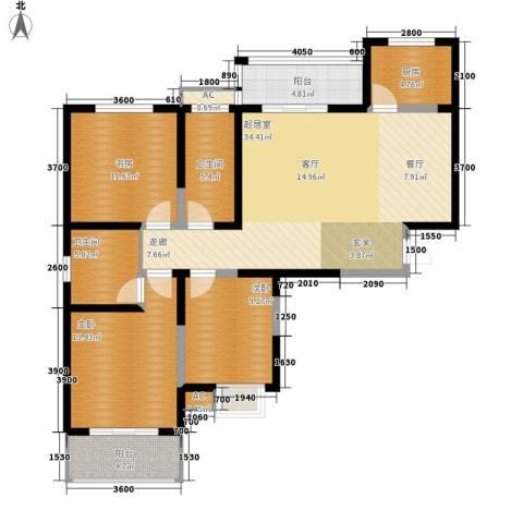 天香心苑3室0厅2卫1厨115.00㎡户型图
