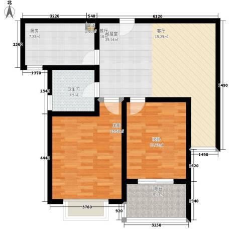 明德怡心居2室0厅1卫1厨80.00㎡户型图