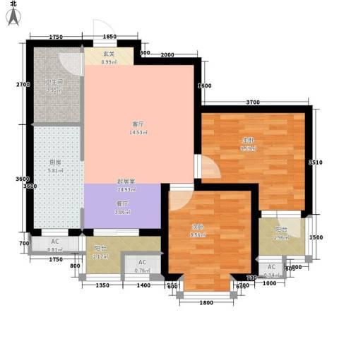 盛世家园2室0厅1卫0厨80.00㎡户型图
