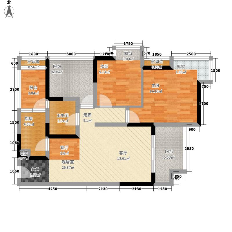 东原亲亲里71.01㎡一期3号楼标准面积7101m户型