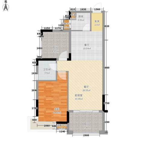 龙光・阳光海岸1室0厅1卫1厨102.00㎡户型图