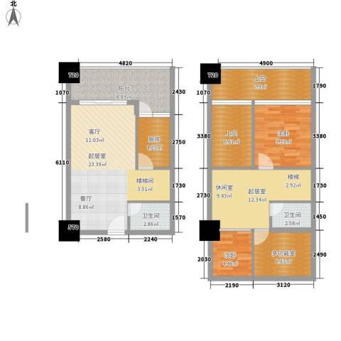 雅典汇2室0厅2卫1厨89.33㎡户型图