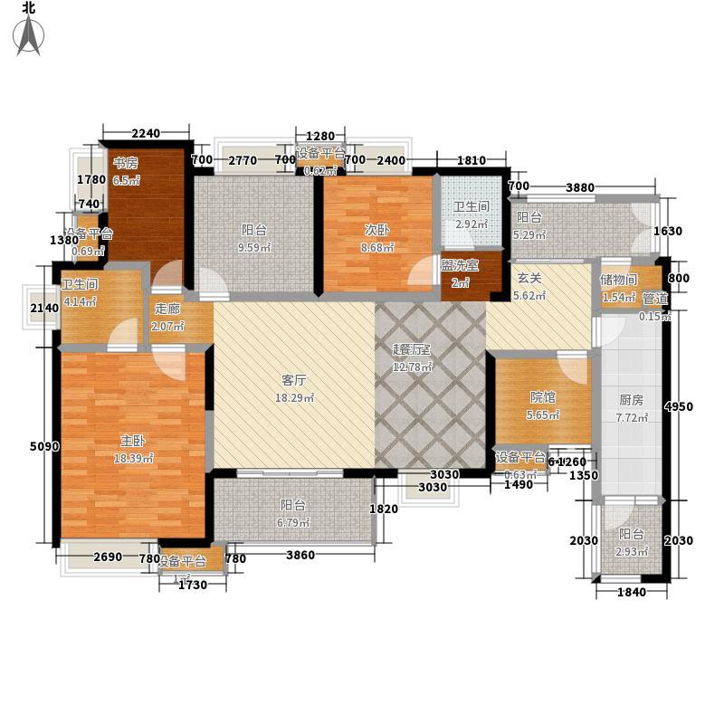华润二十四城130.00㎡23号楼A1双卫户型3室2厅