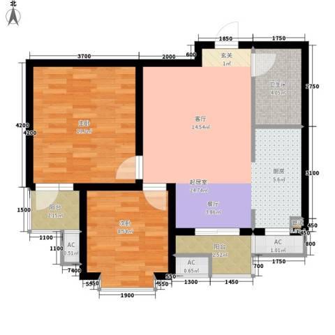 盛世家园2室0厅1卫0厨82.00㎡户型图
