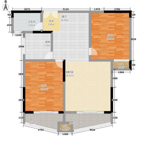 玛依拉山庄2室0厅1卫1厨126.00㎡户型图