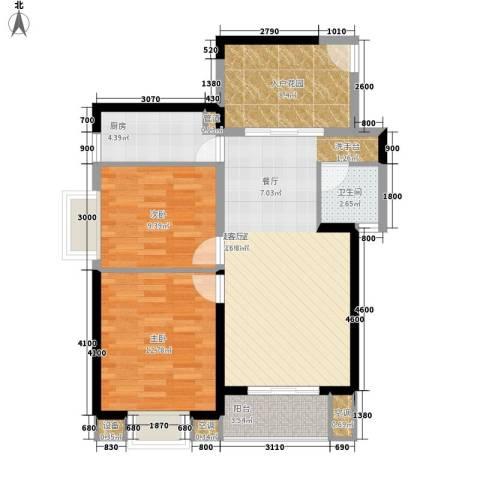 旭辉藏郡2室0厅1卫1厨86.00㎡户型图