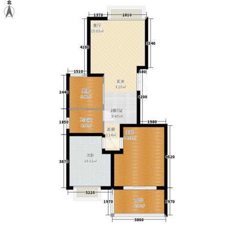 一品东庭2室0厅1卫1厨77.00㎡户型图