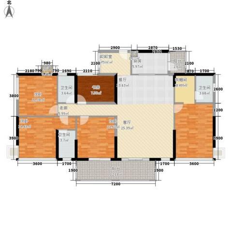 怡安皇庭5室0厅3卫1厨180.00㎡户型图