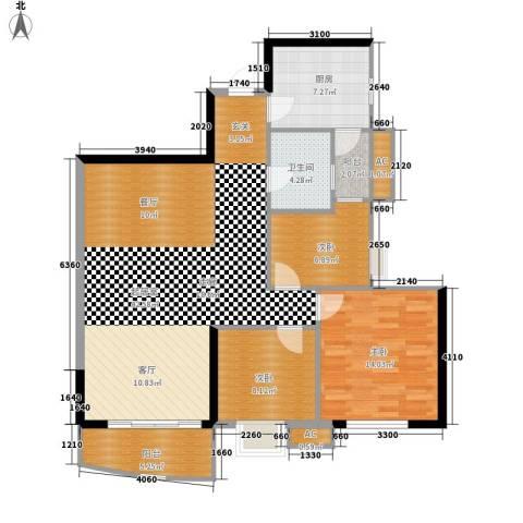 恒荔湾畔3室0厅1卫1厨102.00㎡户型图