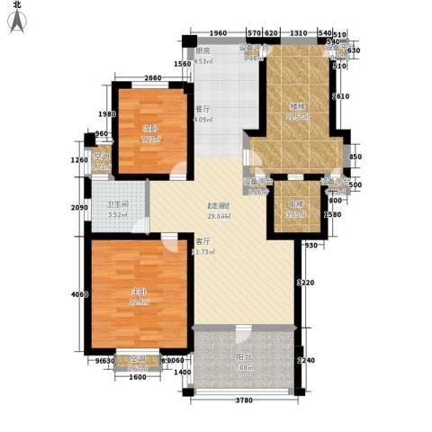 盛泰丹桂苑2室0厅1卫0厨89.00㎡户型图