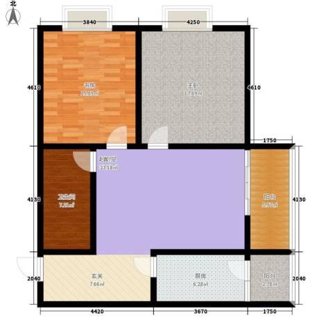五一东村2室0厅1卫1厨100.00㎡户型图