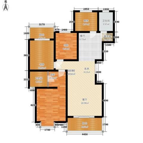 一品东庭3室0厅2卫1厨120.00㎡户型图