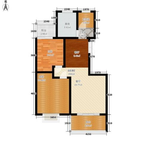 一品东庭2室0厅1卫1厨87.00㎡户型图