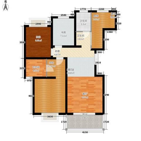 一品东庭3室0厅2卫1厨98.00㎡户型图