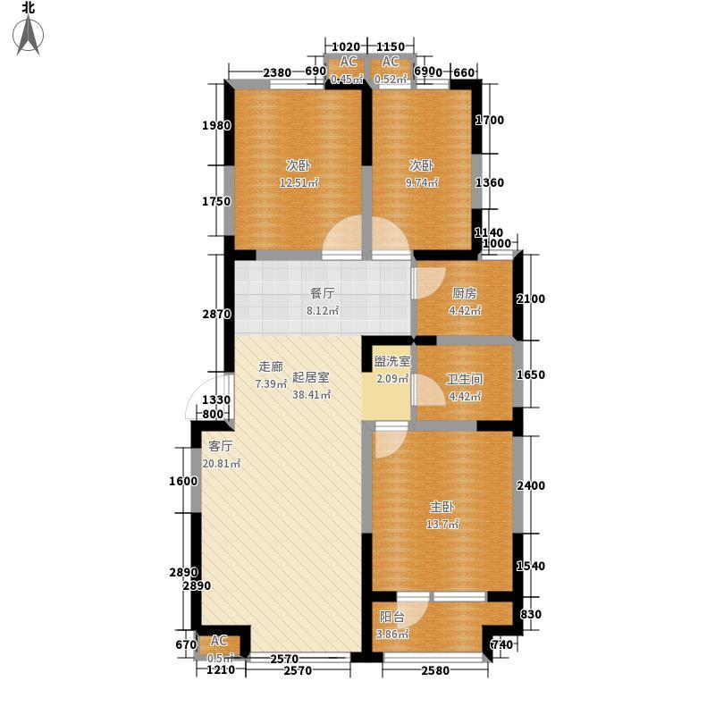 荣盛阿尔卡迪亚119.00㎡17号楼-3面积11900m户型
