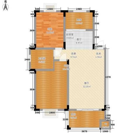 环达公寓2室0厅1卫1厨82.47㎡户型图