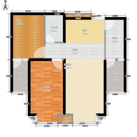 金源经典2室0厅1卫1厨91.00㎡户型图
