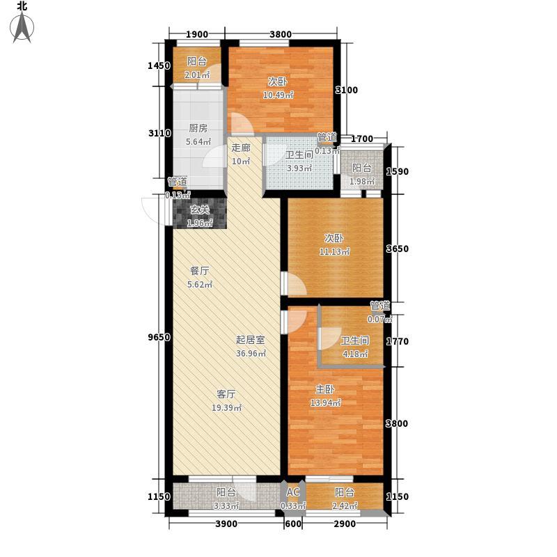 紫玉名苑142.80㎡D13-2-21面积14280m户型