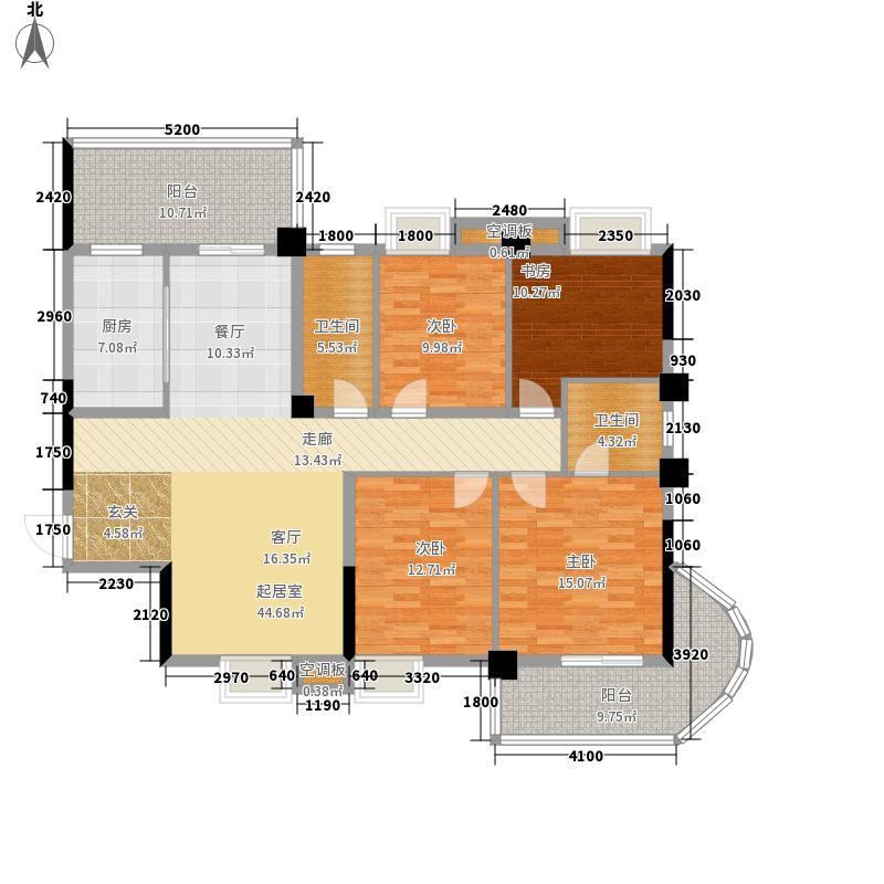 星海虹城167.56㎡1-4b奇数层面积16756m户型