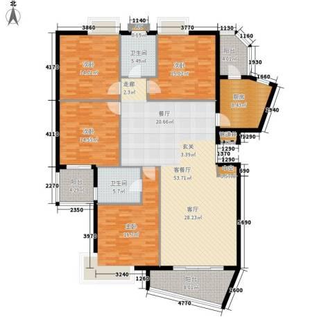 世纪佳园4室1厅2卫1厨174.00㎡户型图