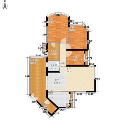 塞纳森晴3室0厅1卫1厨132.00㎡户型图