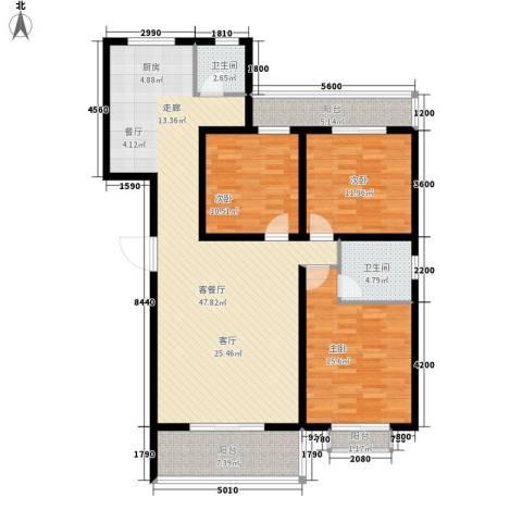 景香苑3室1厅2卫0厨153.00㎡户型图