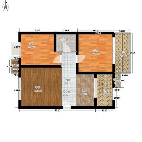 新旅城2室0厅1卫0厨91.00㎡户型图