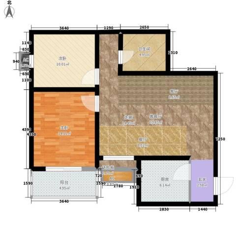 都市桂苑2室1厅1卫1厨87.00㎡户型图