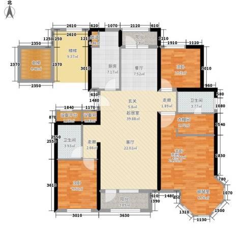 赵庄铁路楼3室0厅2卫1厨109.33㎡户型图