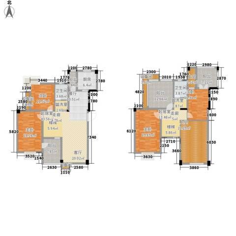 红莲湖首府4室0厅2卫1厨191.75㎡户型图