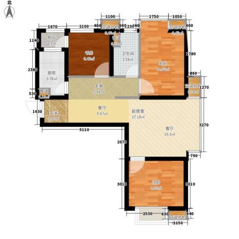 中基礼域3室0厅1卫1厨93.00㎡户型图