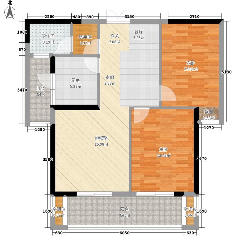 蠡湖一号户型2室2厅
