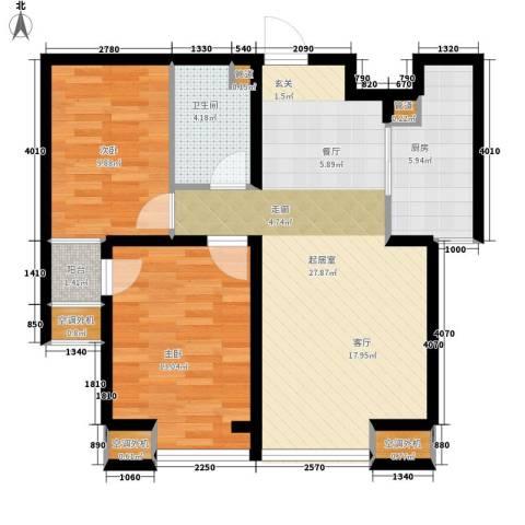 中基礼域2室0厅1卫1厨92.00㎡户型图