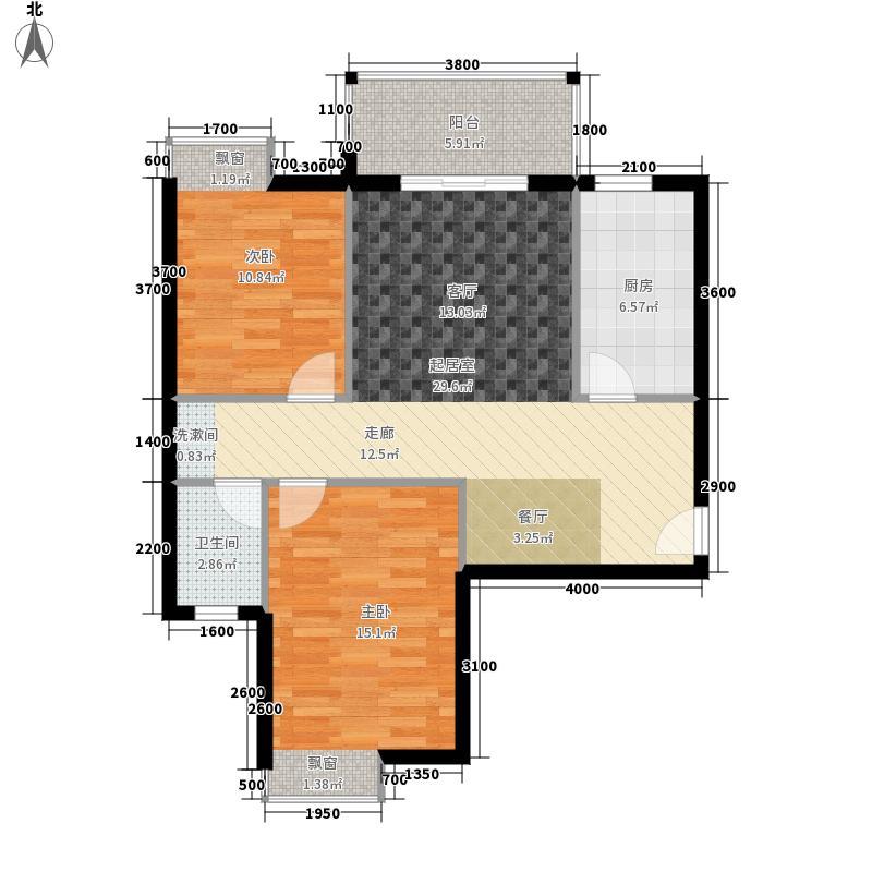 东顺擎天95.55㎡C1户型2室2厅