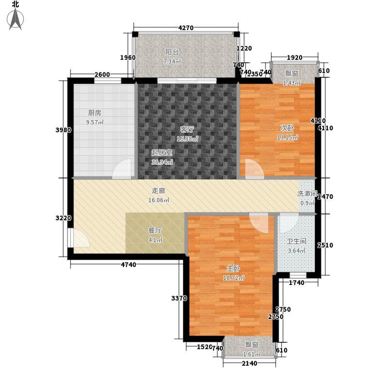 东顺擎天98.08㎡C2户型2室2厅