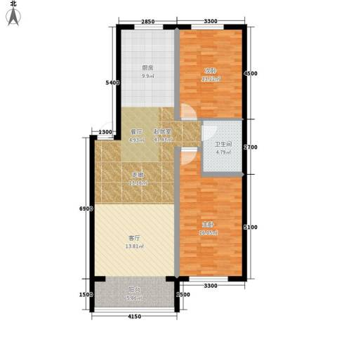 西城首府2室0厅1卫0厨114.00㎡户型图