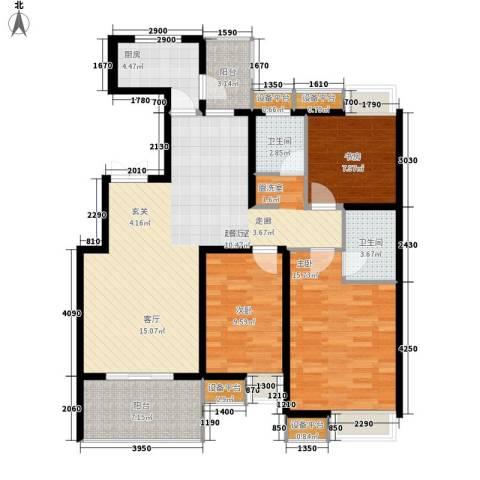 达生凤苑龙居3室0厅2卫1厨133.00㎡户型图
