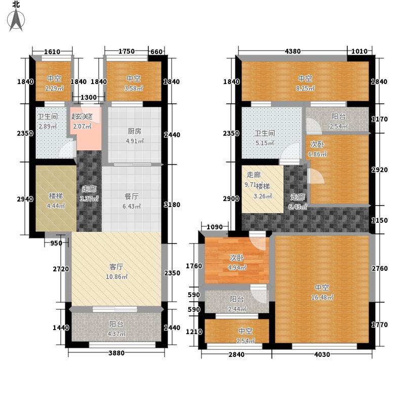 中航城国际社区122.00㎡A区8、9#楼C户型2室2厅
