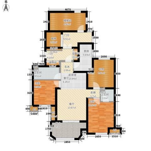远见3室0厅2卫1厨118.00㎡户型图