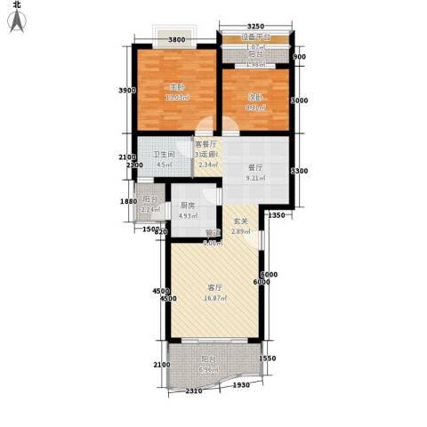 富悦新城2室1厅1卫1厨91.00㎡户型图