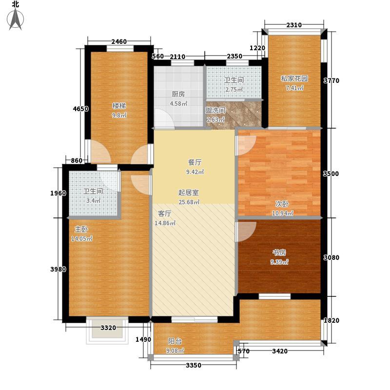 大丰水岸鑫城110.30㎡二期住宅标面积11030m户型
